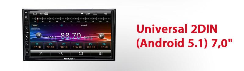 Универсальная магнитола на базе Android 5.1 INCAR AHR 7380